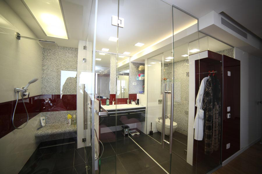 עבודת זכוכית למקלחת