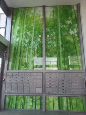 חיפויי קיר מזכוכית לעסק