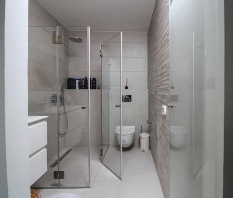 מקלחון זכוכית בעיצוב אישי